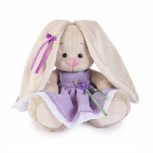 Мягкая игрушка BUDI BASA Зайка Ми в фиолетовом платье с цветочком SidX-182 в Ярославле