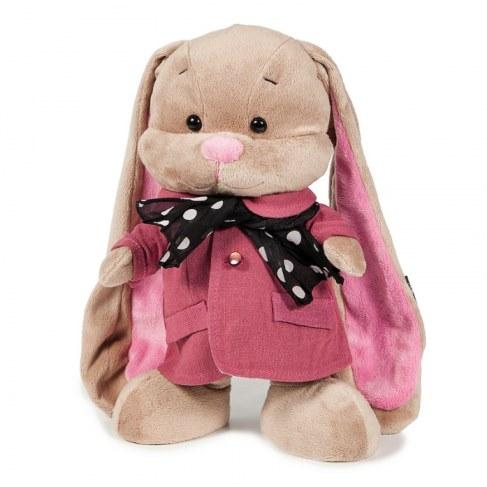 Мягкая игрушка MaxiToys Зайка Лин В Розовом Пальто со Стильным Шарфом 25 см JL-004ST-25 в Ярославле