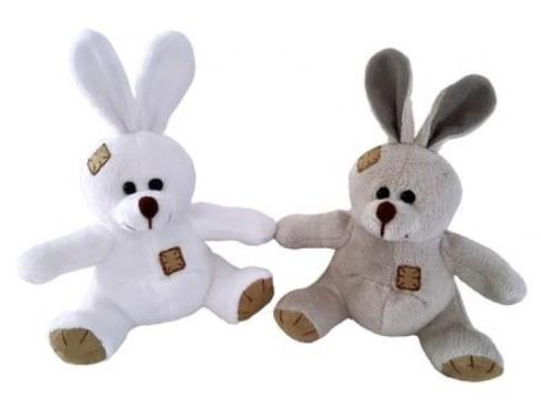 Мягкая игрушка Teddy Зайчик с заплатками коричневый 12 см M4001 в Ярославле