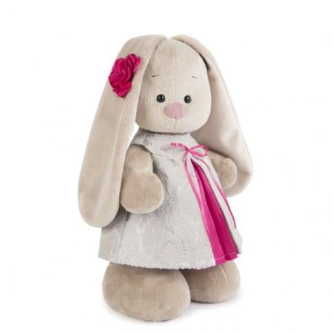 Мягкая игрушка BUDI BASA StS-198 Зайка Ми в платье из жаккарда в Ярославле