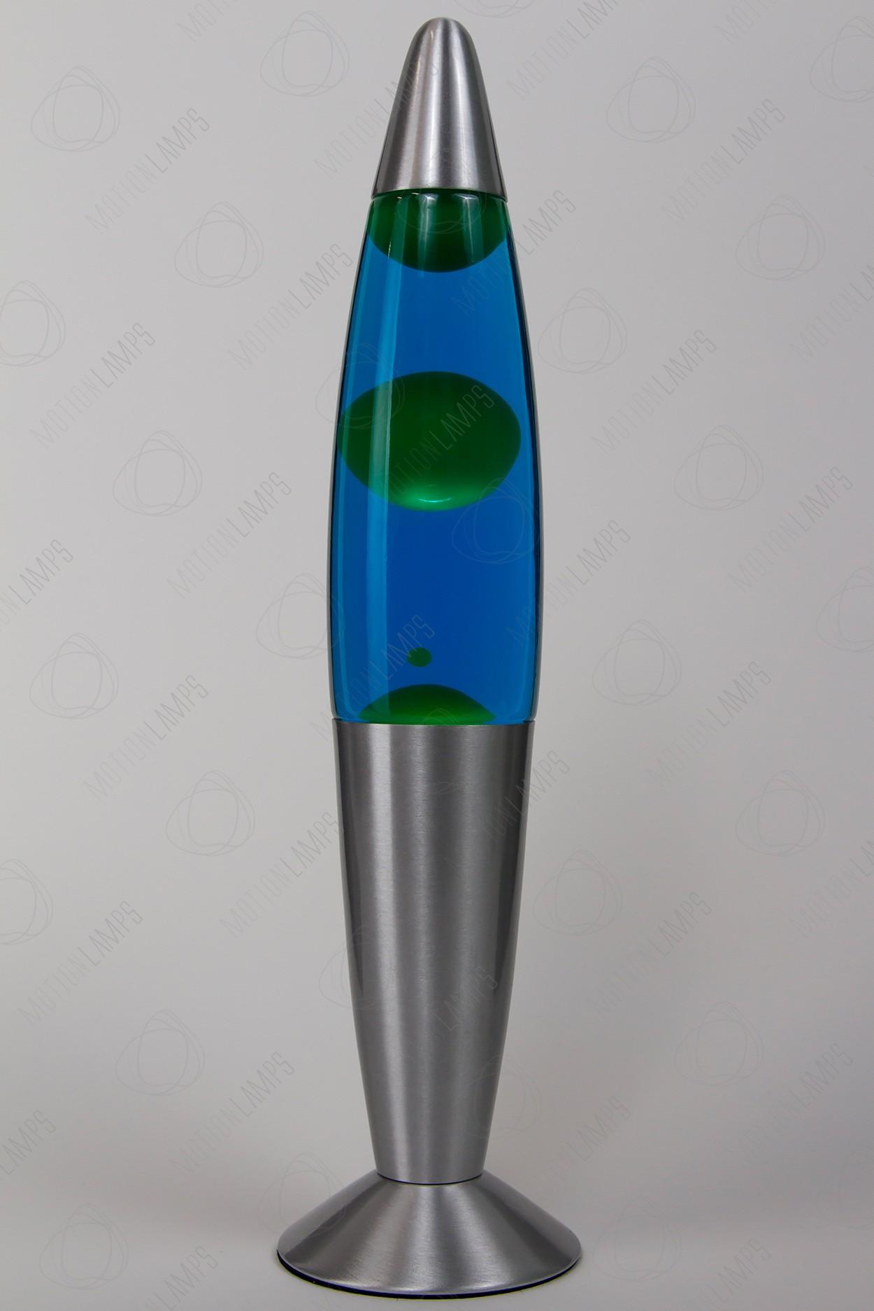 Лава-лампа 35см Зелёная/Синяя (Воск) в Ярославле