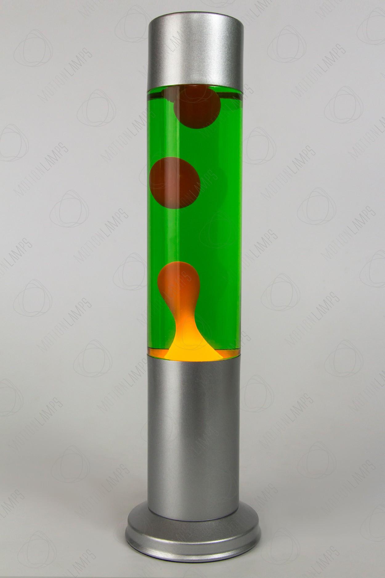 Лава-лампа 38см CL Оранжевая/Зелёная (Воск) Silver в Ярославле