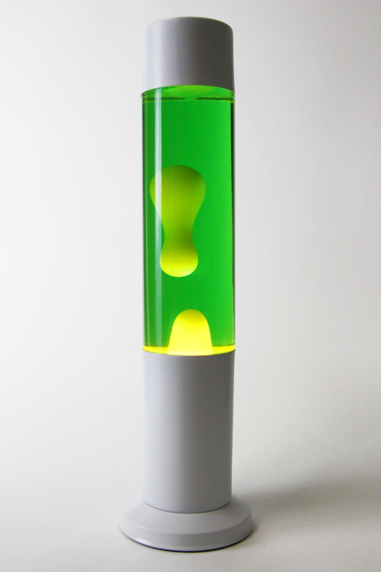 Лавовая лампа 38см CL Желтая/Зелёная (Воск) White в Ярославле