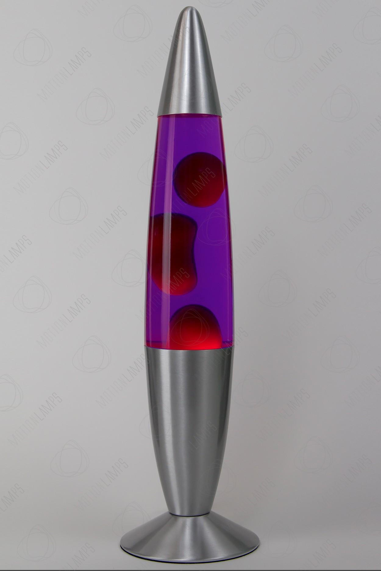 Лава-лампа 48см Красная/Фиолетовая (Воск) в Ярославле