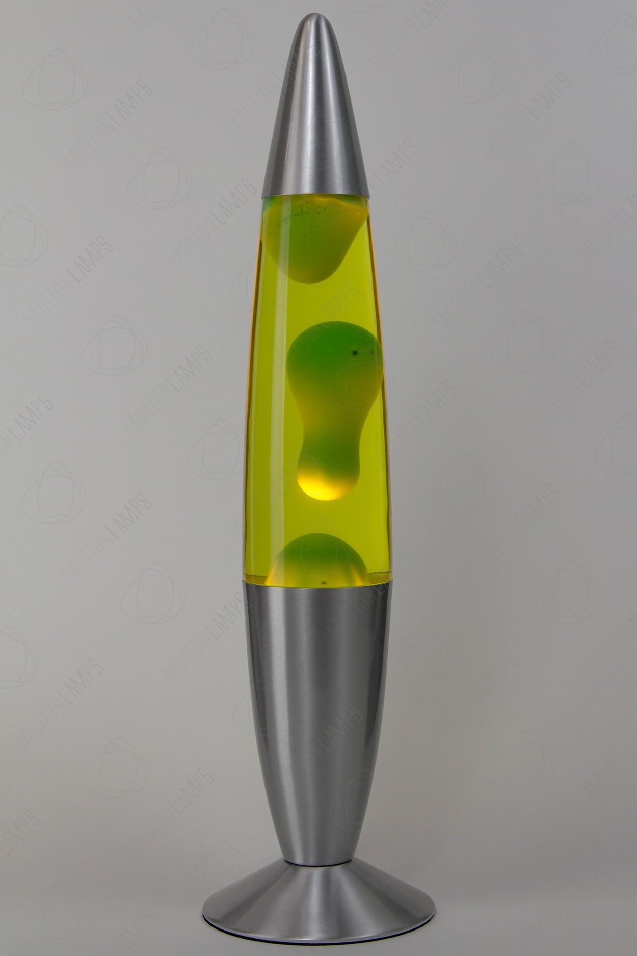 Лава-лампа 48см Зелёная/Жёлтая (Воск) в Ярославле