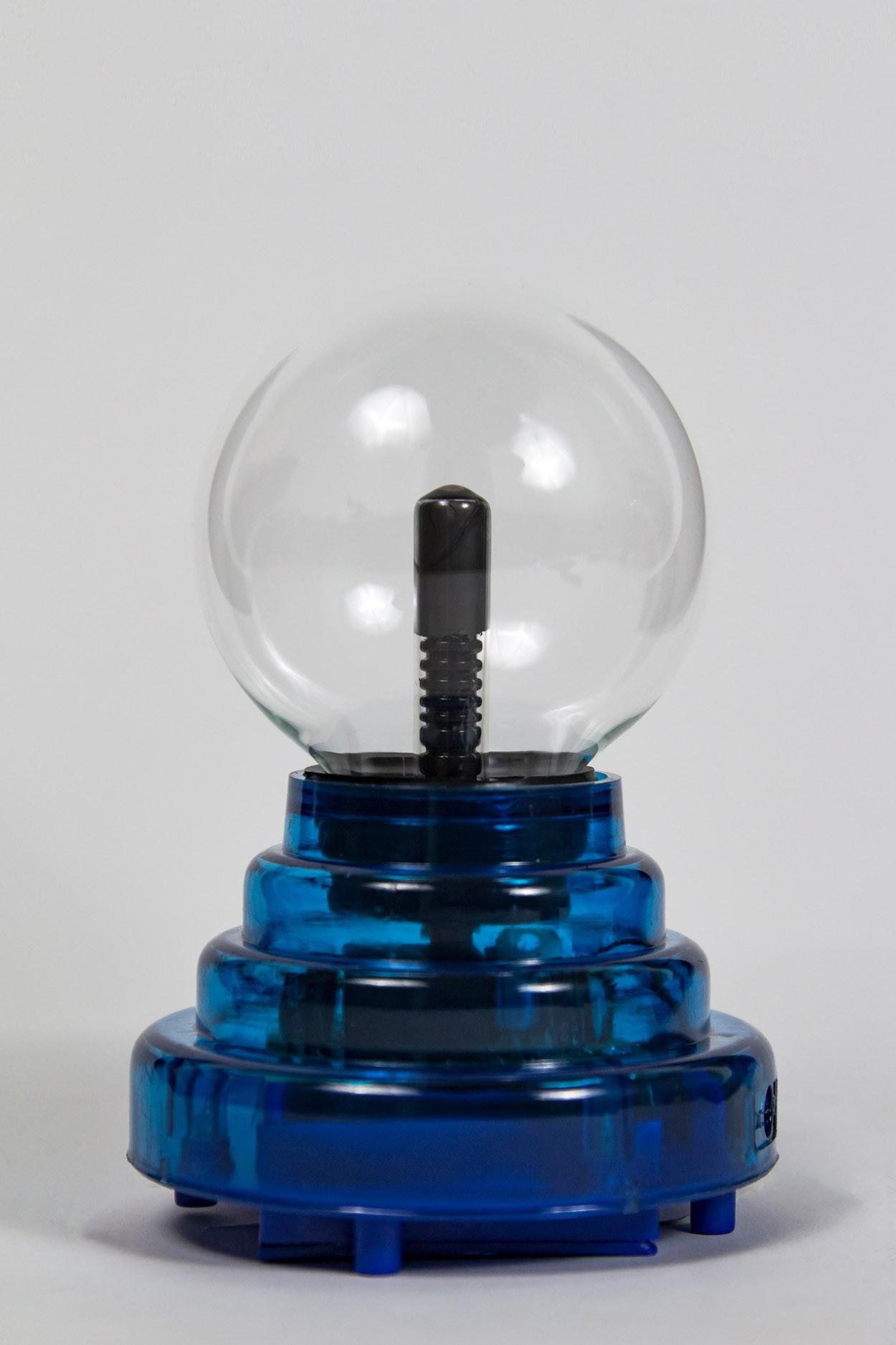 Плазменный шар на батарейках синий Аудио (D - 8см) (USB) в Ярославле