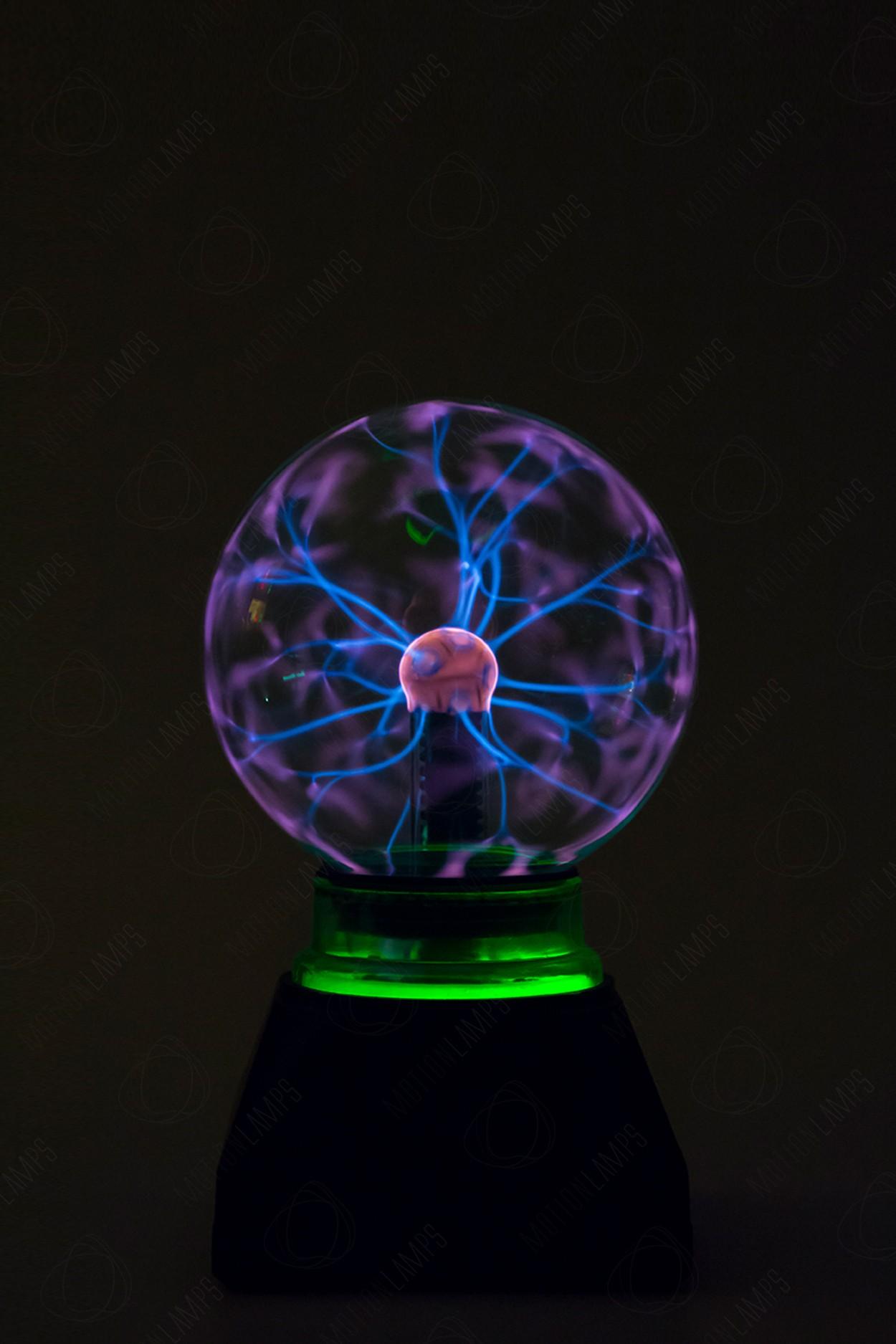 Электрический плазменный шар Тесла (D - 12см) Green в Ярославле