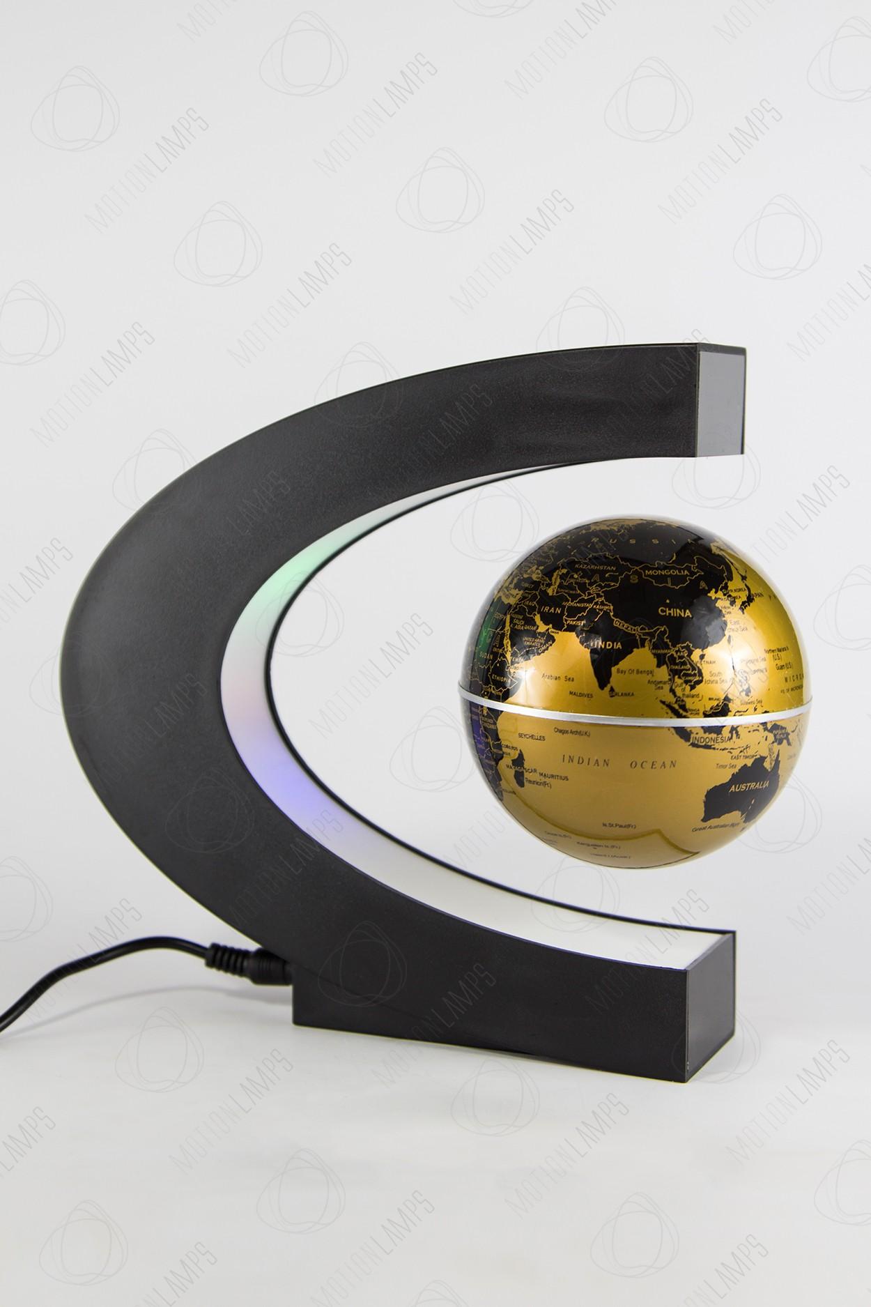 Парящий глобус с RGB-подсветкой (золотой) (D - 9см) в Ярославле