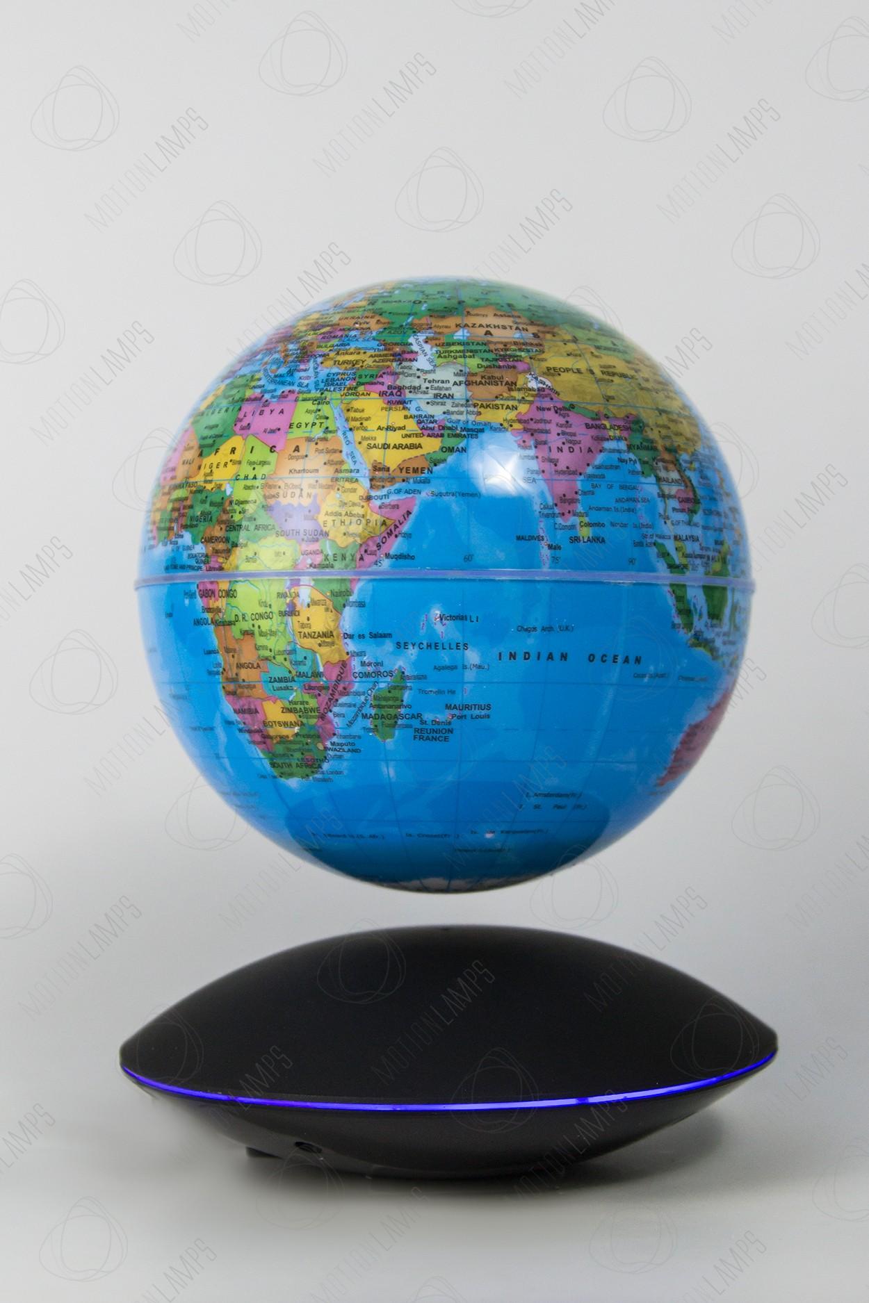 Глобус на магнитной подушке голубой (D-14см) в Ярославле