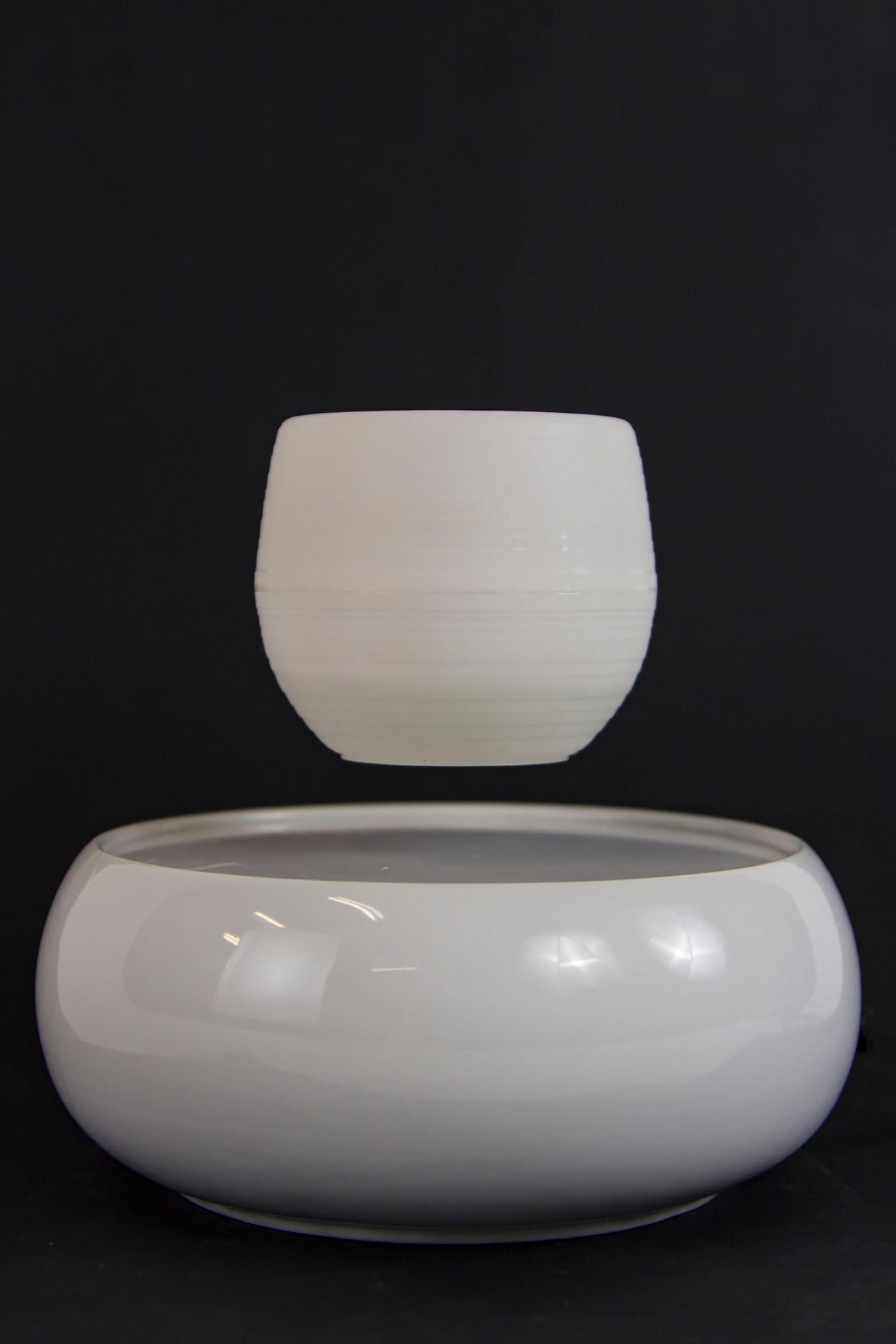 Левитирующий горшок - керамика - белый в Ярославле
