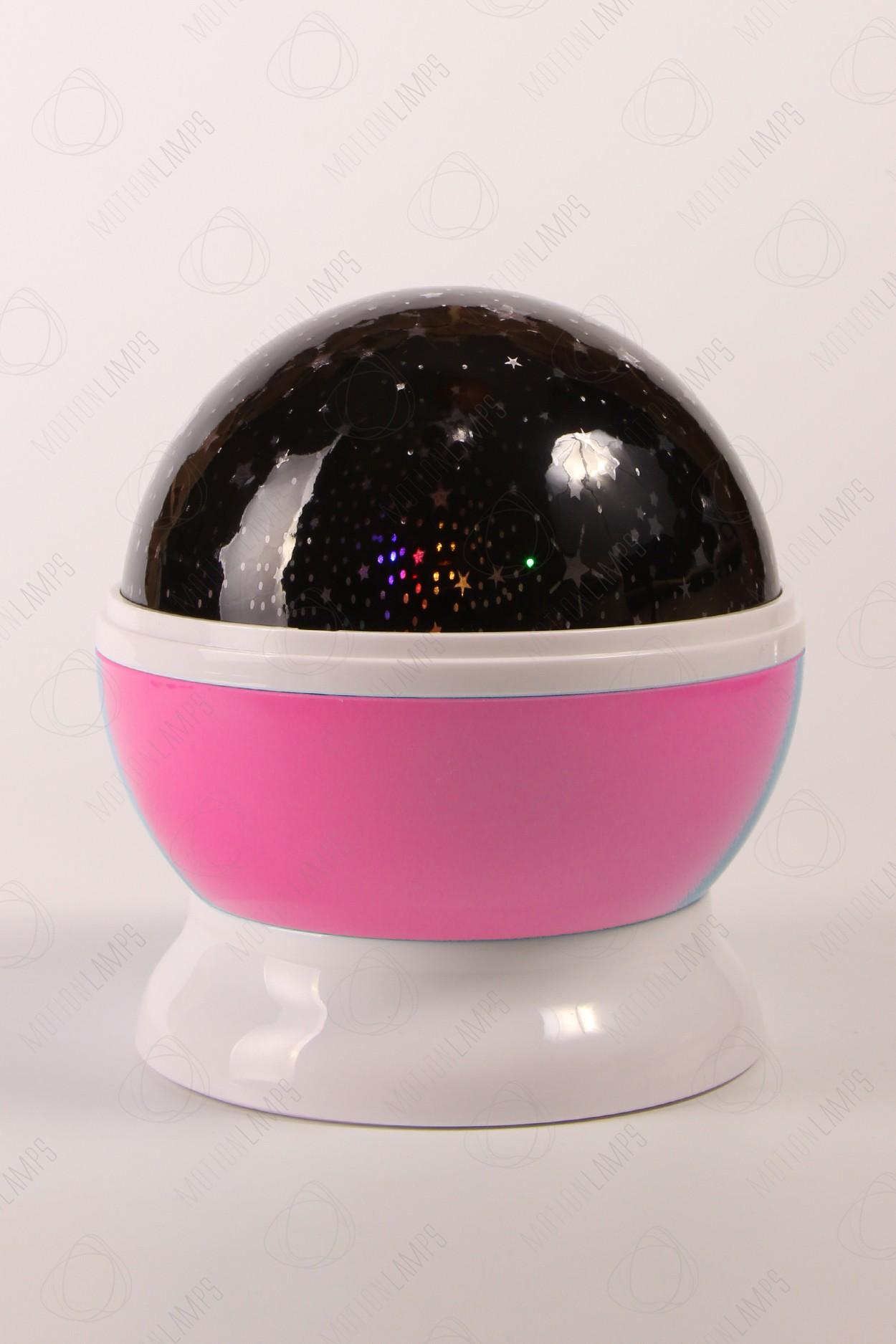 Ночник-проектор звездного неба «Dream» розовый в Ярославле