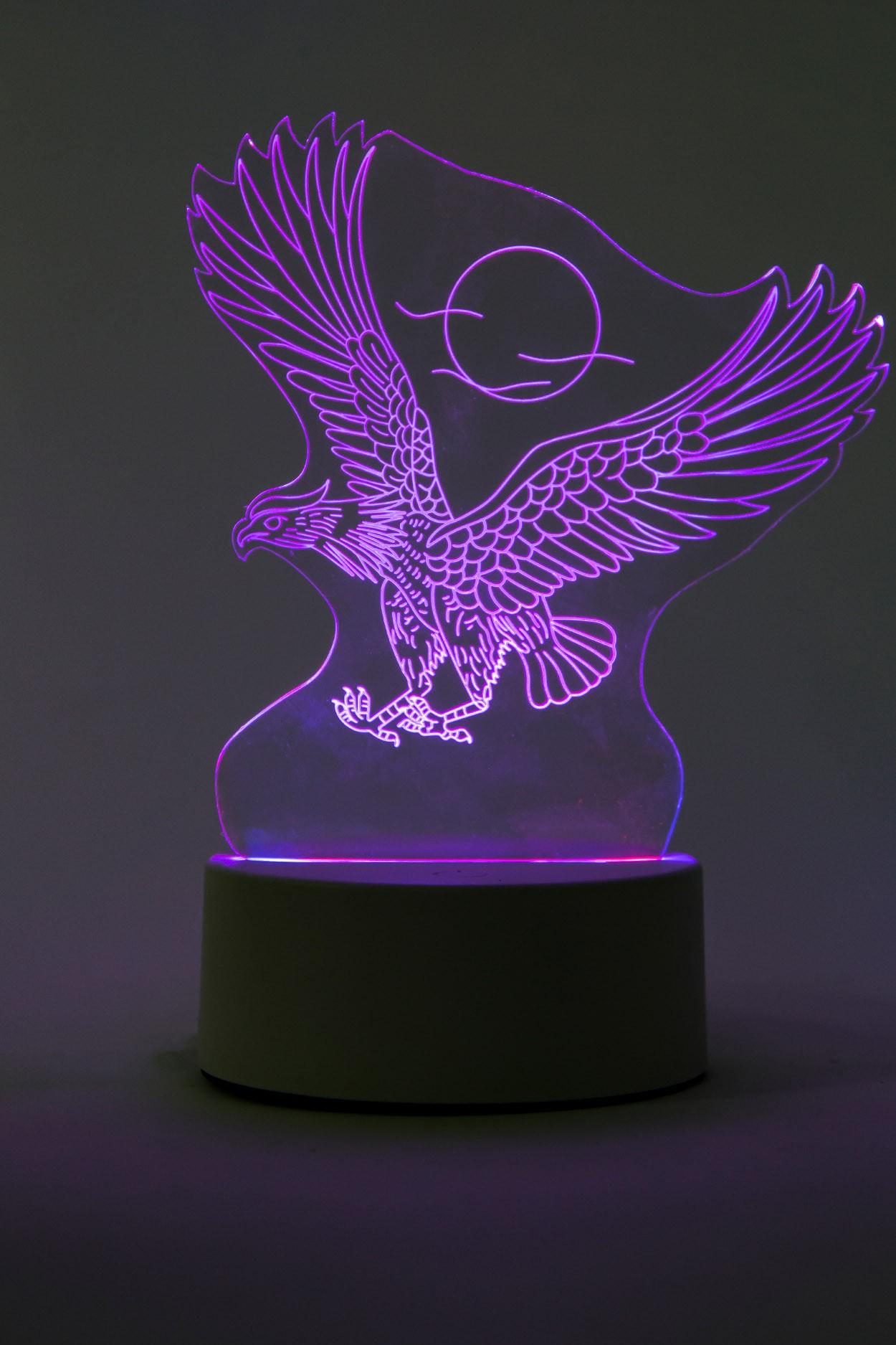 3D ночник Орёл 3 цвета в Ярославле