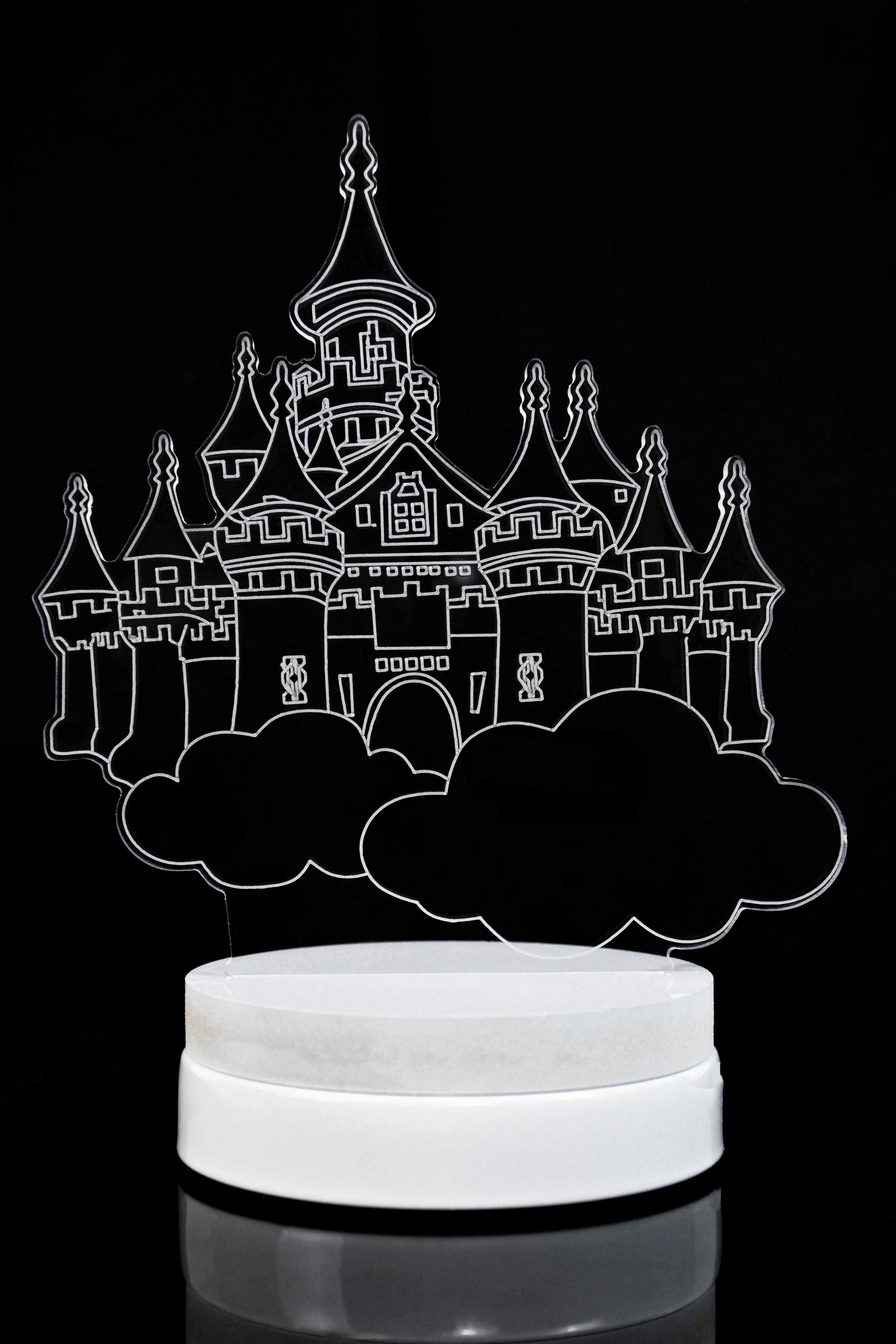 Светодиодная 3D лампа Облачный замок 3 цвета в Ярославле