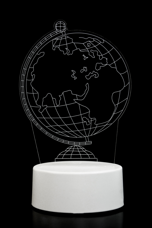 3D ночник Глобус 3 цвета в Ярославле