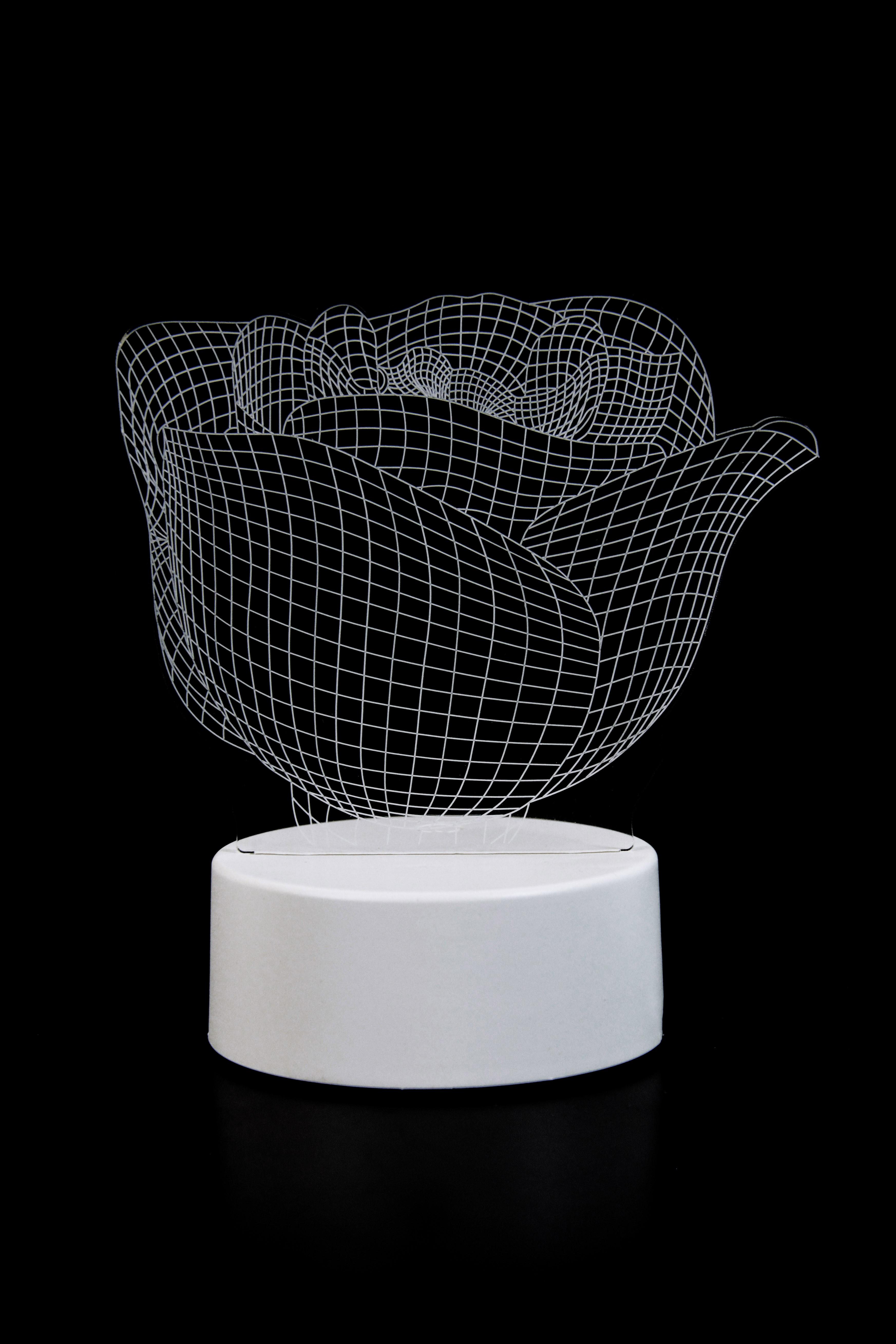 3D светильник Роза 3 цвета в Ярославле