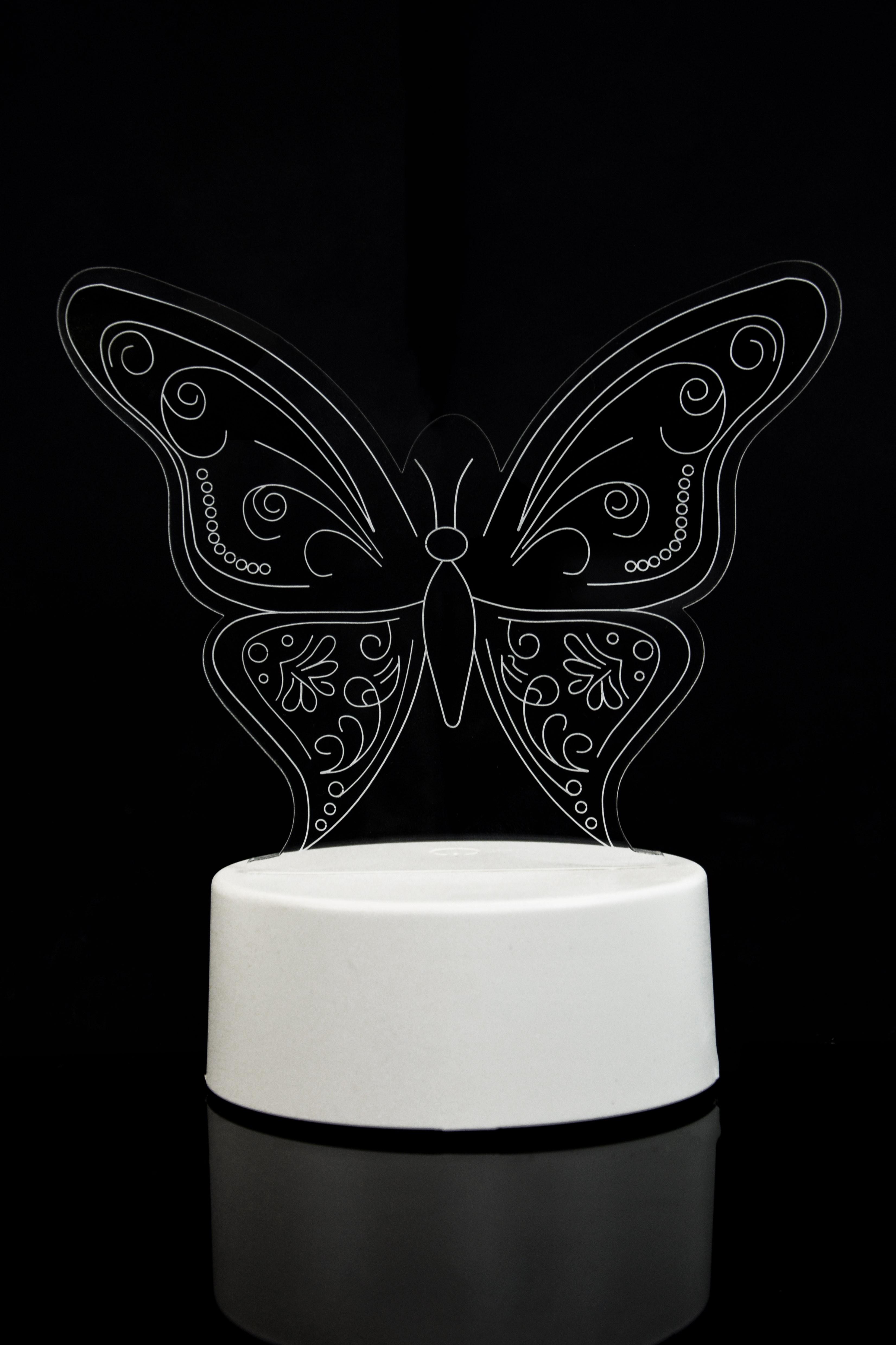 3D Светильник Бабочка 3 цвета в Ярославле