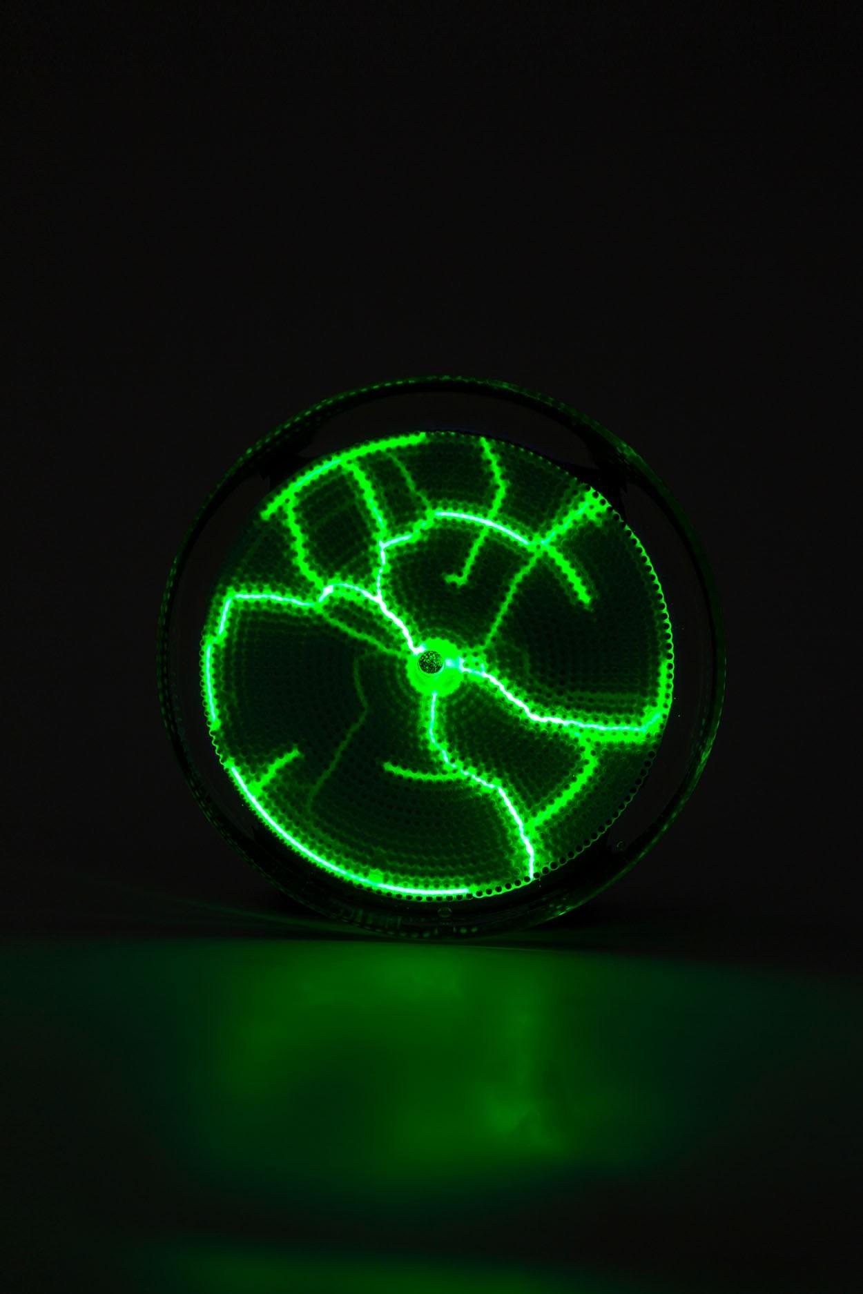Карманный плазменный диск Тесла Зелёный (Pocket) D - 7см в Ярославле