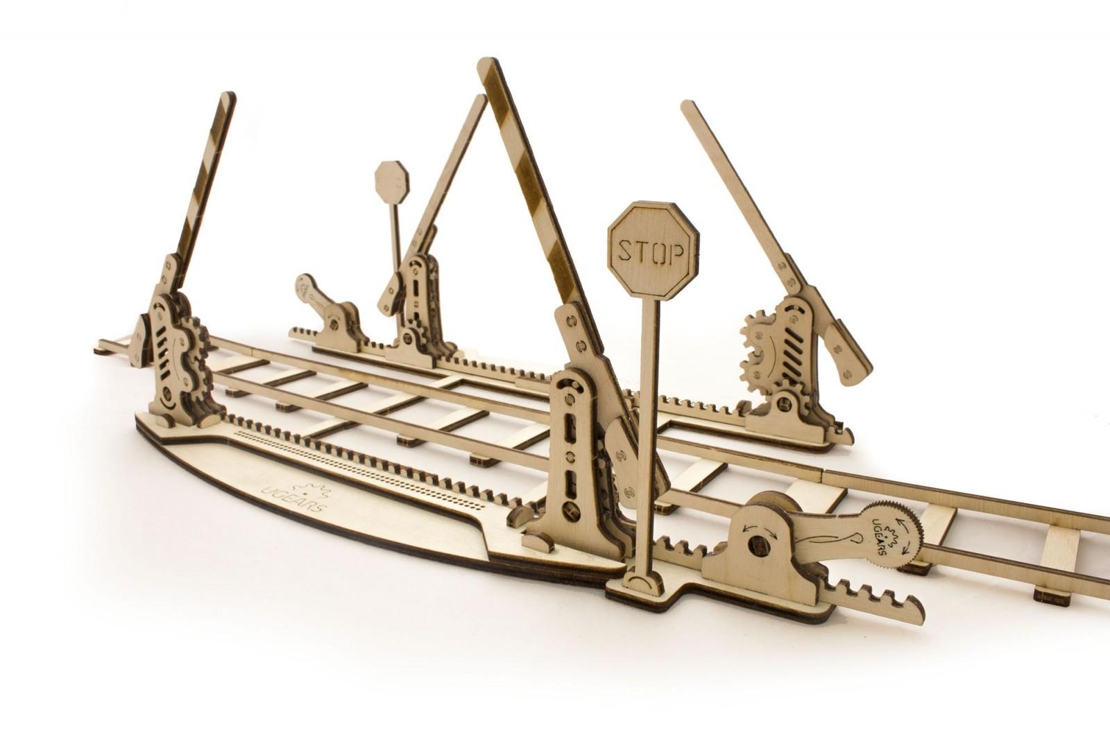 Конструктор 3D-пазл Ugears Переезд (с рельсами) в Ярославле
