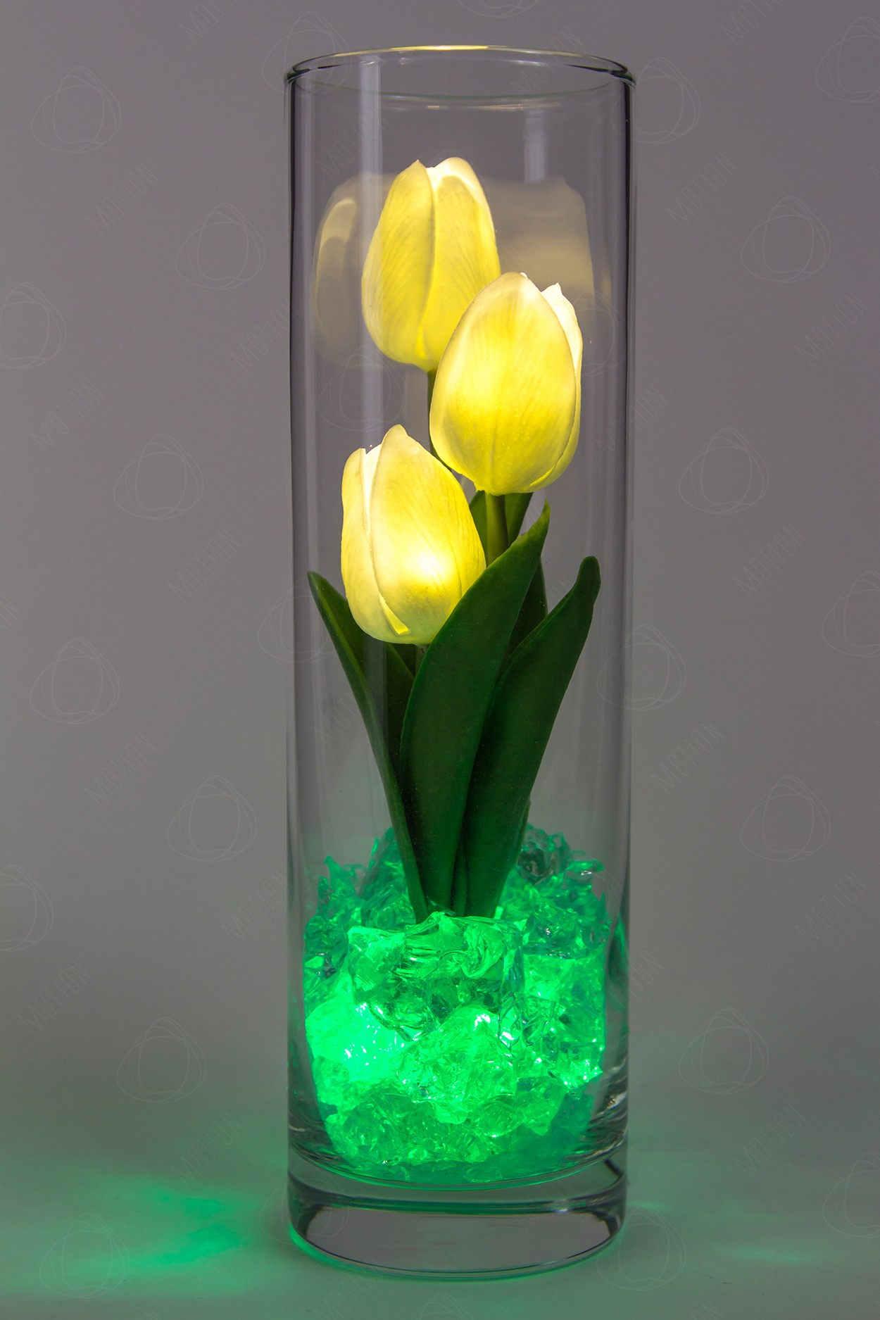 Ночник тюльпаны 3шт Белые(зел) в Ярославле