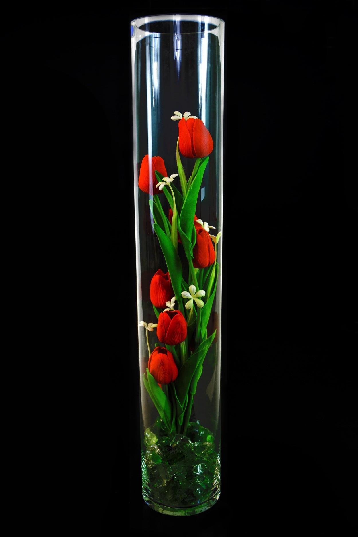 Ночник светящиеся тюльпаны 9шт Красные(зел) в Ярославле