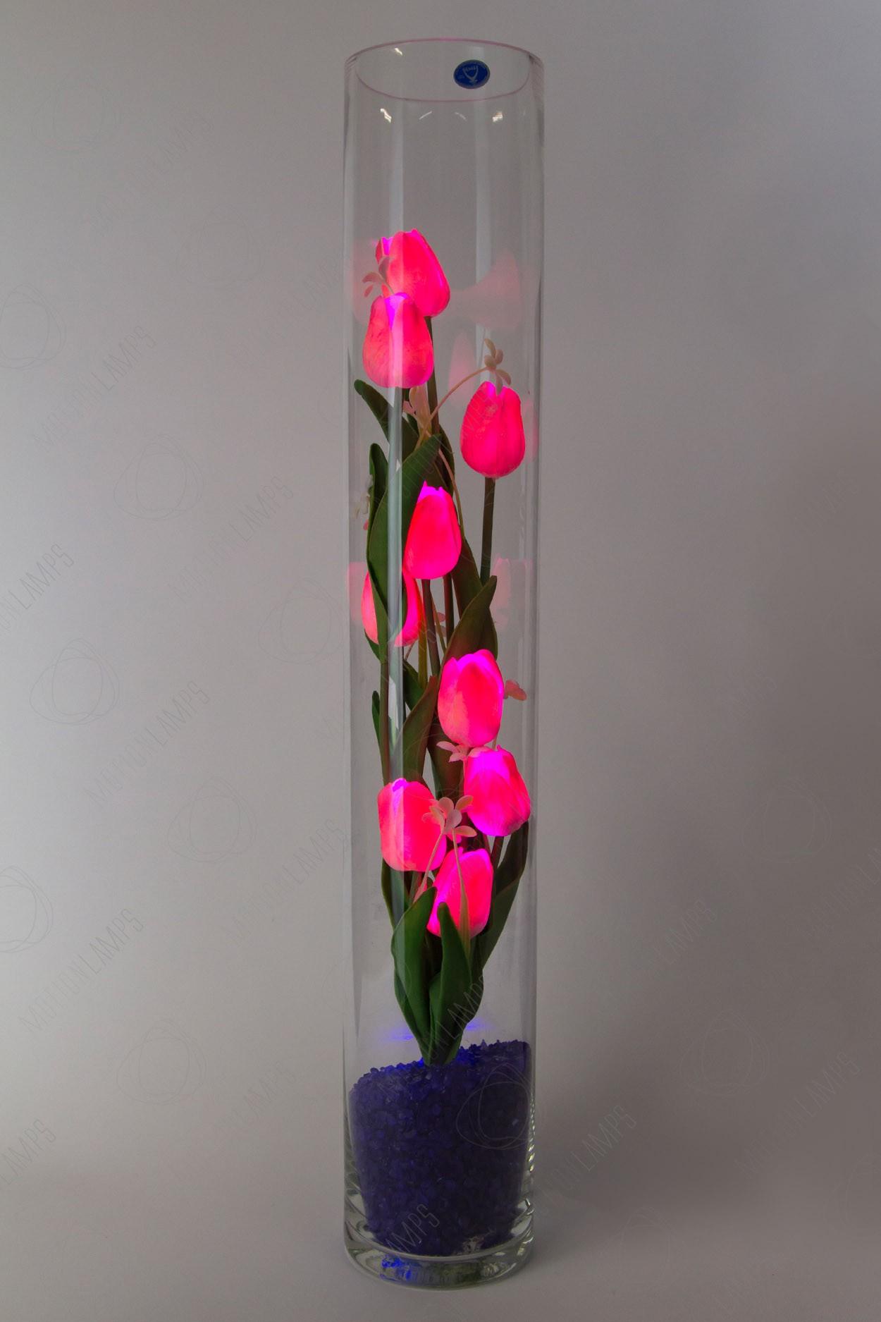 Светящиеся тюльпаны 9шт Розовые(син) в Ярославле