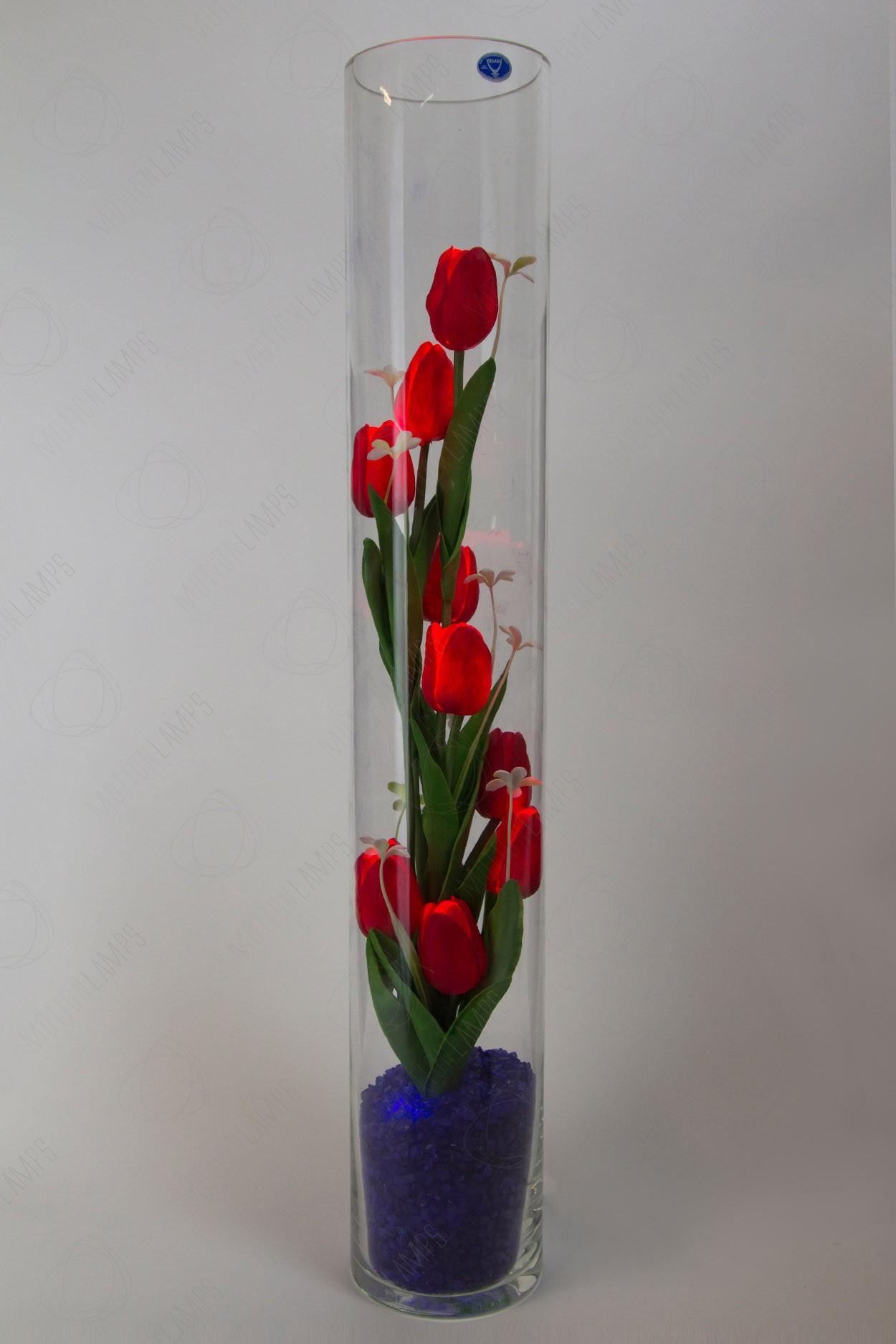 Ночник светящиеся тюльпаны 9шт Красные(син) в Ярославле