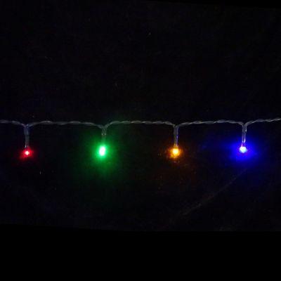 Светодиодная гирлянда на батарейках с таймером (мультиколор) Luca lights 83088 720 см в Ярославле