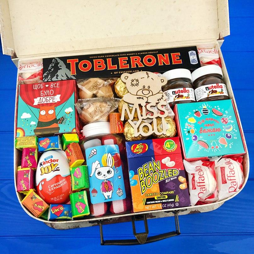 Подарочный набор сладостей в коробке-чемодане MISS YOU  в Ярославле