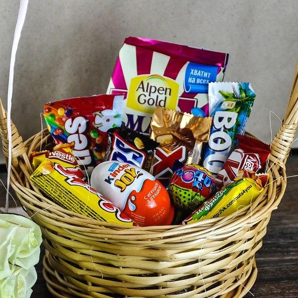 Корзина сладостей «Шоколадный подарок» в Ярославле