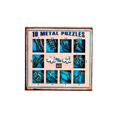 """Набор металлических головоломок""""Eureka! 3D Puzzle"""", 10 шт, цвет синий в Ярославле"""