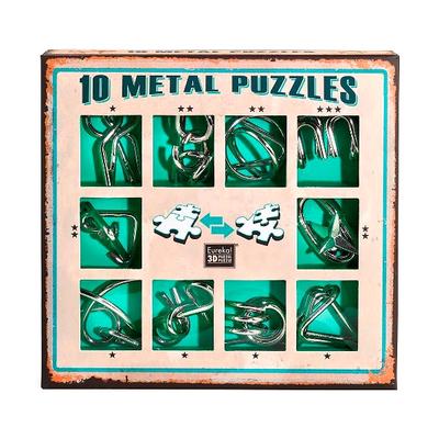 """Набор металлических головоломок""""Eureka! 3D Puzzle"""", 10 шт, цвет зеленый в Ярославле"""