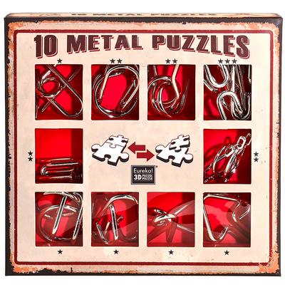 """Набор металлических головоломок""""Eureka! 3D Puzzle"""", 10 шт, цвет красный в Ярославле"""