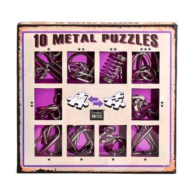 """Набор металлических головоломок""""Eureka! 3D Puzzle"""", 10 шт, цвет фиолетовый в Ярославле"""
