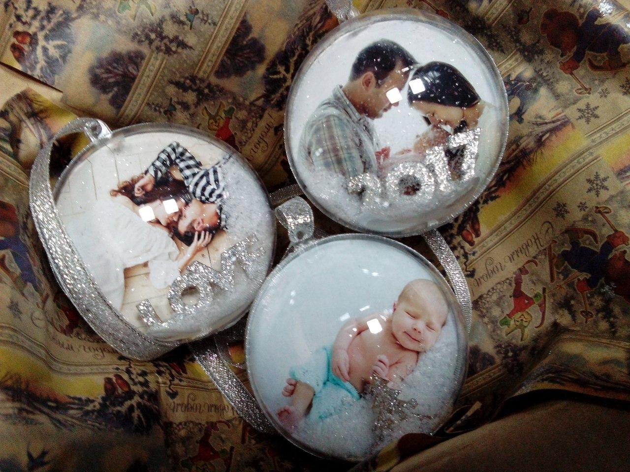 Елочные шары с фотографиями внутри в Ярославле