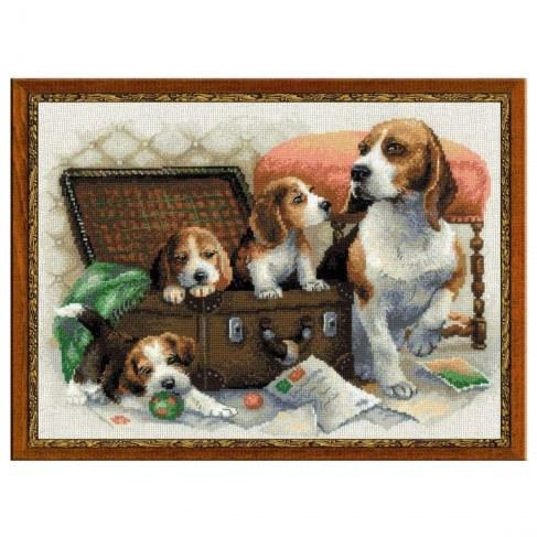 Набор Riolis Premium для вышивания Собачье семейство 1328 в Ярославле