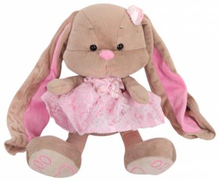 Мягкая игрушка MaxiToys Зайка Лин в розовом платье 25 см JL-002-25 в Ярославле