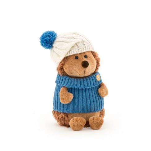 Мягкая игрушка Orange Ёжик Колюнчик в шапке с голубым помпоном 15 см OS605/15B в Ярославле