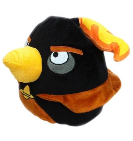 Мягкая игрушка Angry Birds чёрная птица Black Firebomb bird 25 см АВВК10 в Ярославле