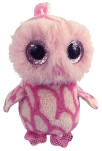 Мягкая игрушка ABtoys Совенок розовый на брелке 12 см M0032 в Ярославле