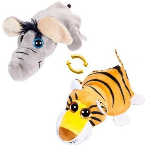 Мягкая игрушка Teddy Перевертыши Слон/Тигр 16 см M5006 в Ярославле