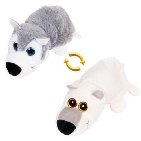 Мягкая игрушка Teddy Перевертыши Волк/Белый медведь 16 см M5007 в Ярославле
