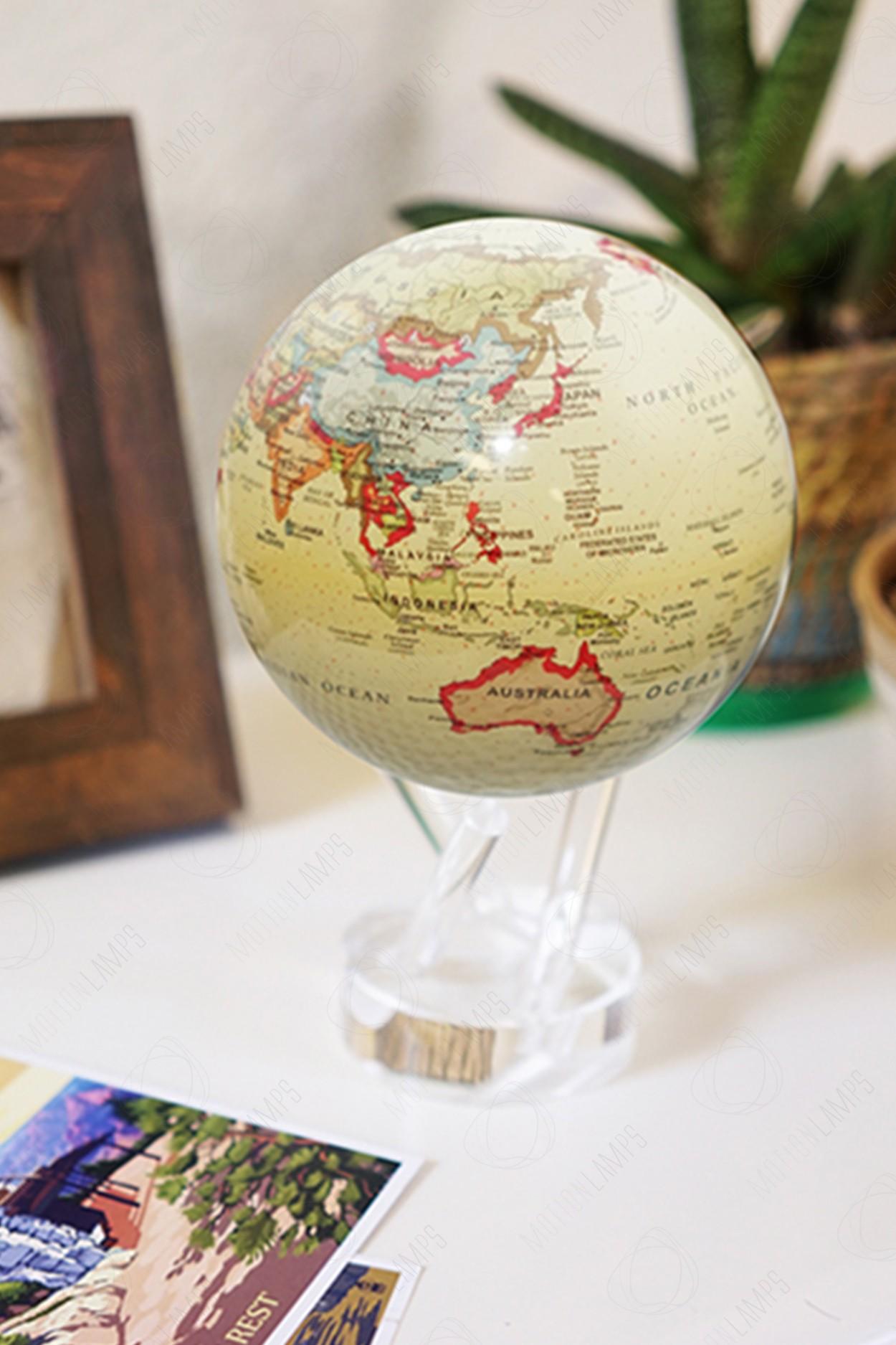 Глобус Mova Globe d12 с политической картой мира (бежевый) в Ярославле